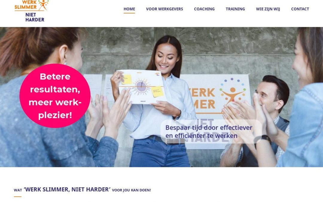 Business website Werk slimmer, niet harder!